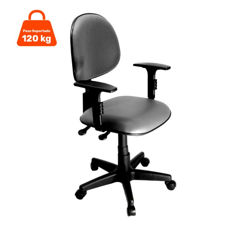 Cadeira Secretária Relax com Regulagem de Encosto Corano Cinza