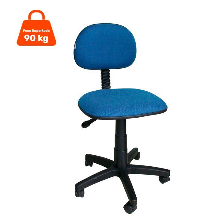 Cadeira de Escritório Secretária Giratória Tecido Azul