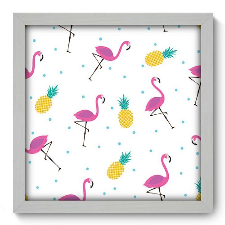 47dac3f3d Quadro Decorativo - Abacaxi e Flamingos - 351qdcb