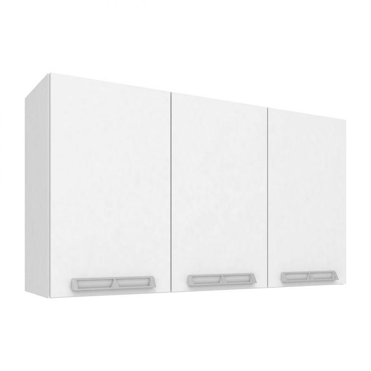 Armário Aéreo Com 3 Portas Cz415 120X66 Branco e Branco Art In Móveis