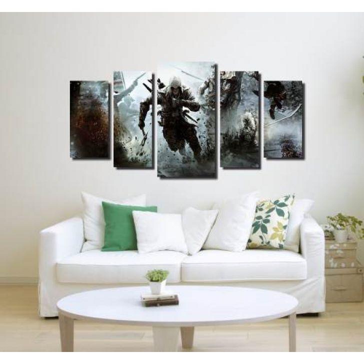 3150565d8 Quadro Decorativo Assassin S Creed 5 Peças Para Sala