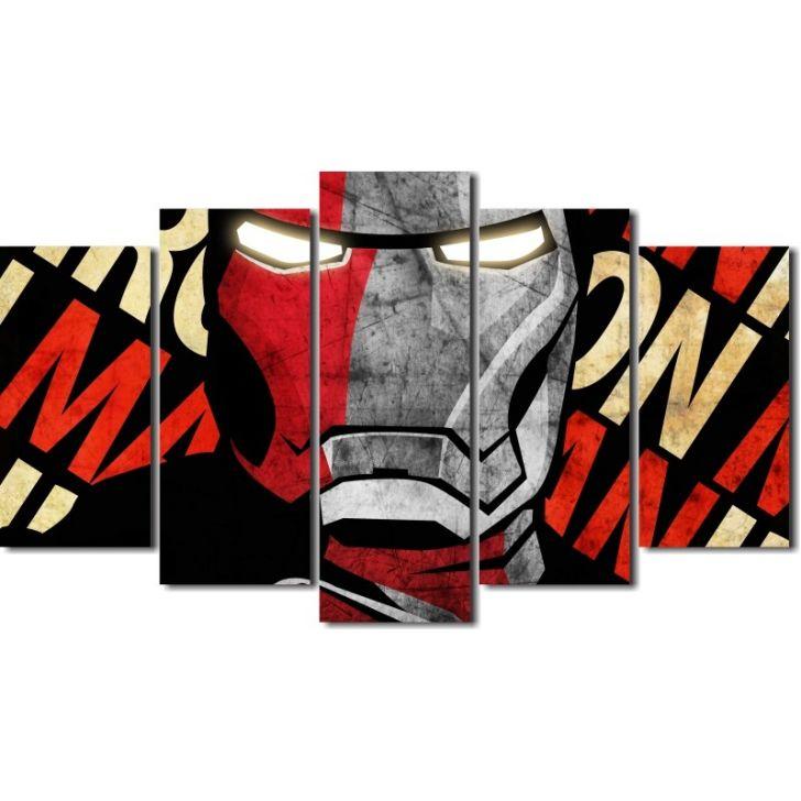 e0b501bf30 Quadro Decorativo Ironman Homem De Ferro 5 Peças
