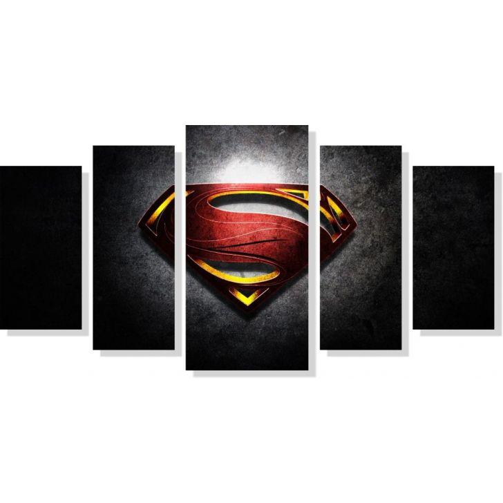 6428b6aa0 Quadros Decorativos Super Homem para Quartos 5 peças