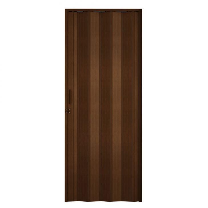 Porta Sanfonada Com Trinco Marrom 084X210