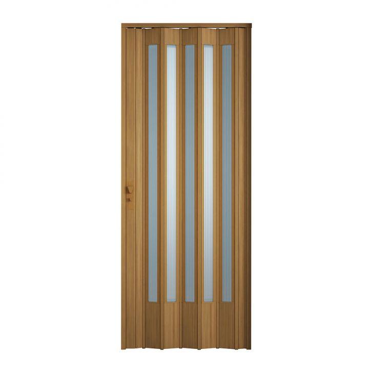 Porta Sanfonada Translucida Com Fechadura Cerejeira 084X210