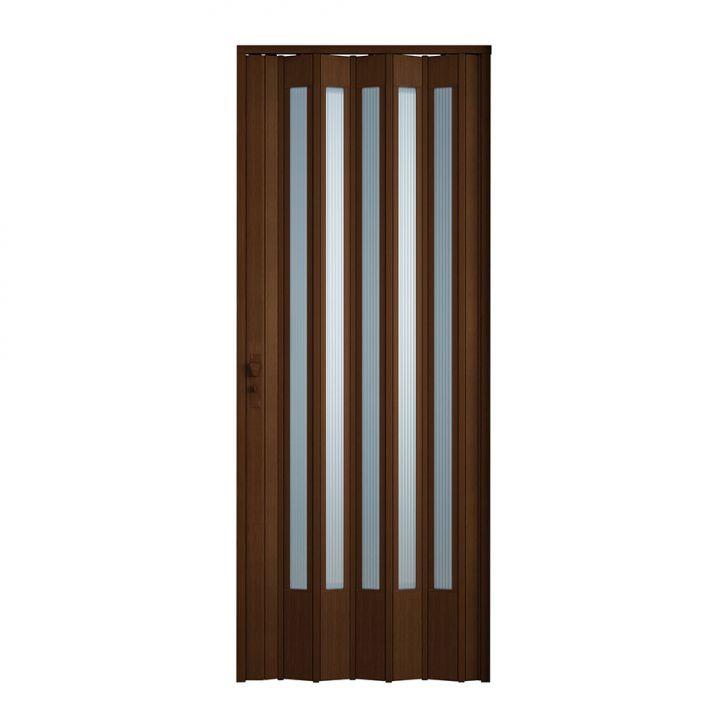 Porta Sanfonada Translucida Com Fechadura Imbuia 060X210