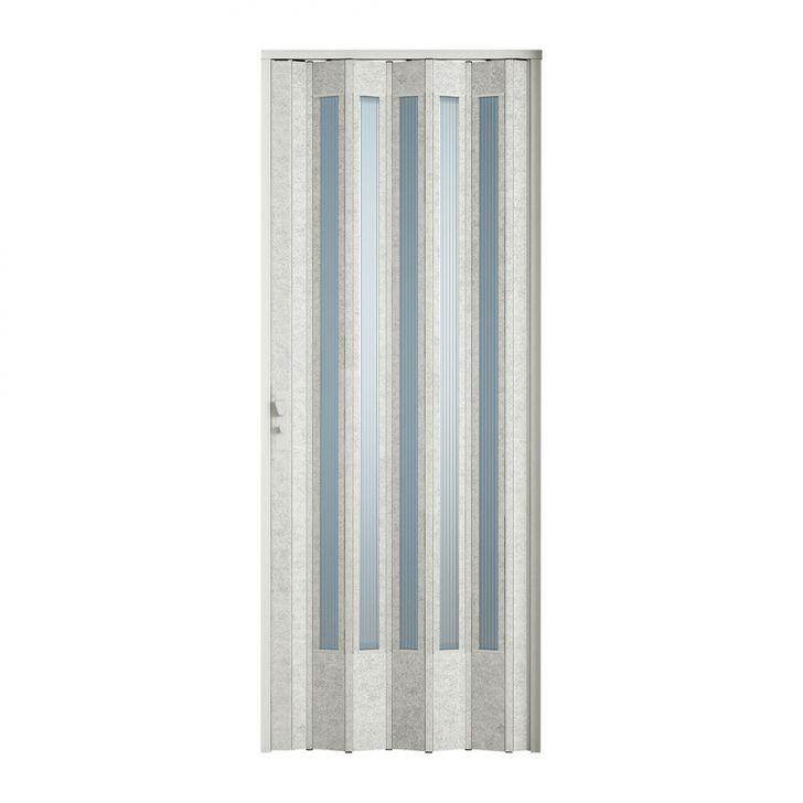 Porta Sanfonada Translucida Com Fechadura Puntinato 060X210