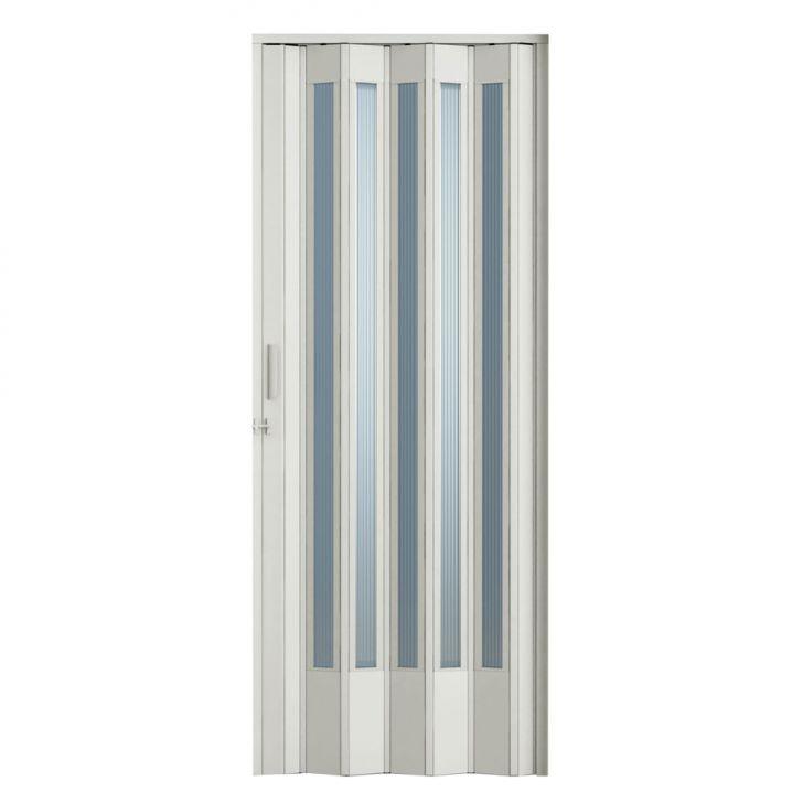Porta Sanfonada Translucida Com Trinco Branca 096X210