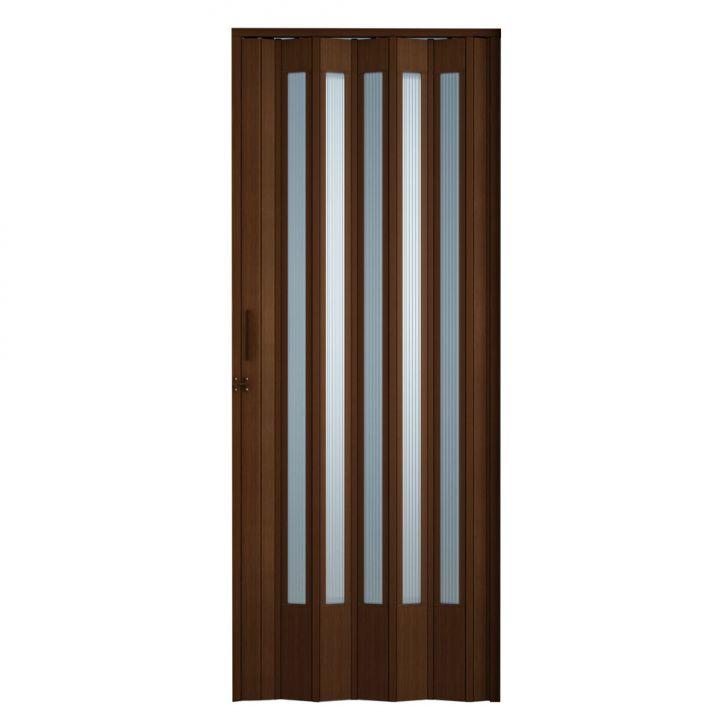 Porta Sanfonada Translucida com Trinco Imbuia 060x210