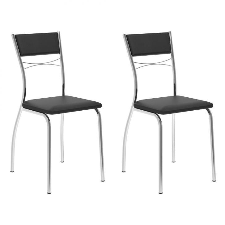 Conjunto 2 Cadeiras 1701 Preta