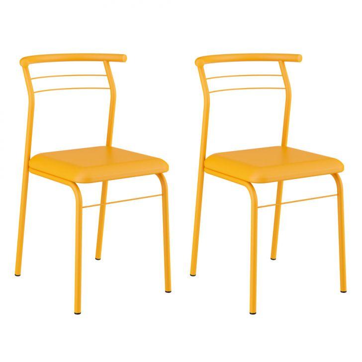 Conjunto 2 Cadeiras 1708 Amarelo Ouro