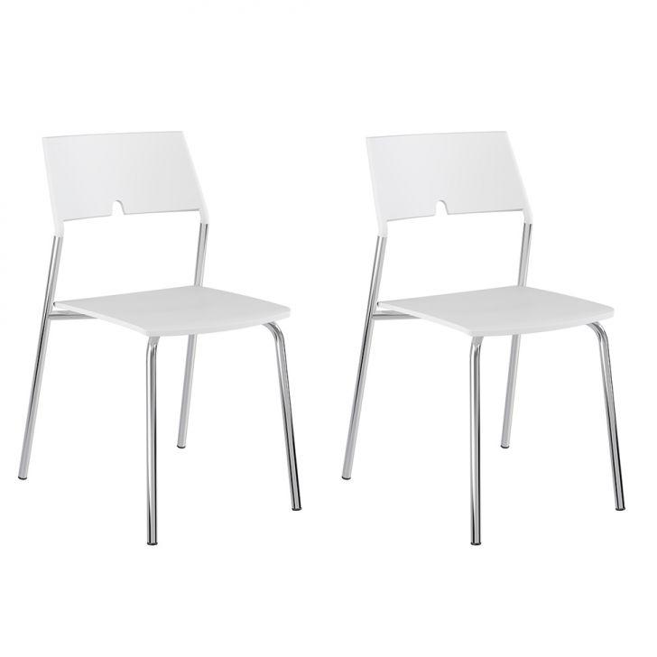 Conjunto 2 Cadeiras 1711 Branco