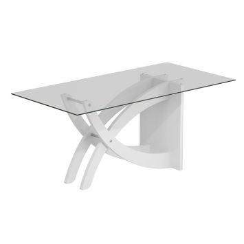 Mesa de Jantar Avulsa Retangular Flávia 90x180 cm Branco Cimol Flávia