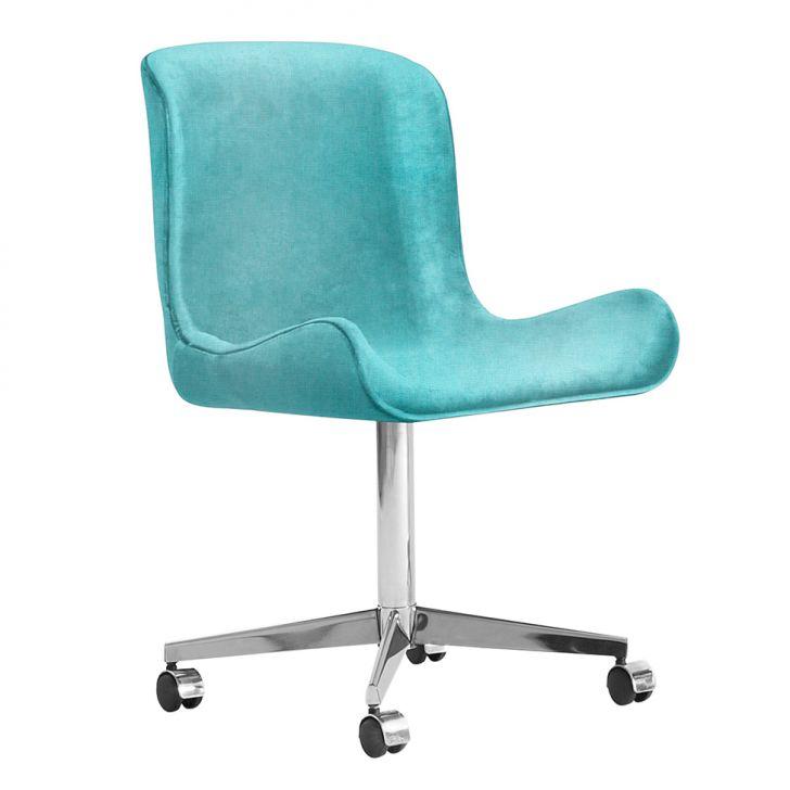Cadeira de Escritório  Egg Linho Azul
