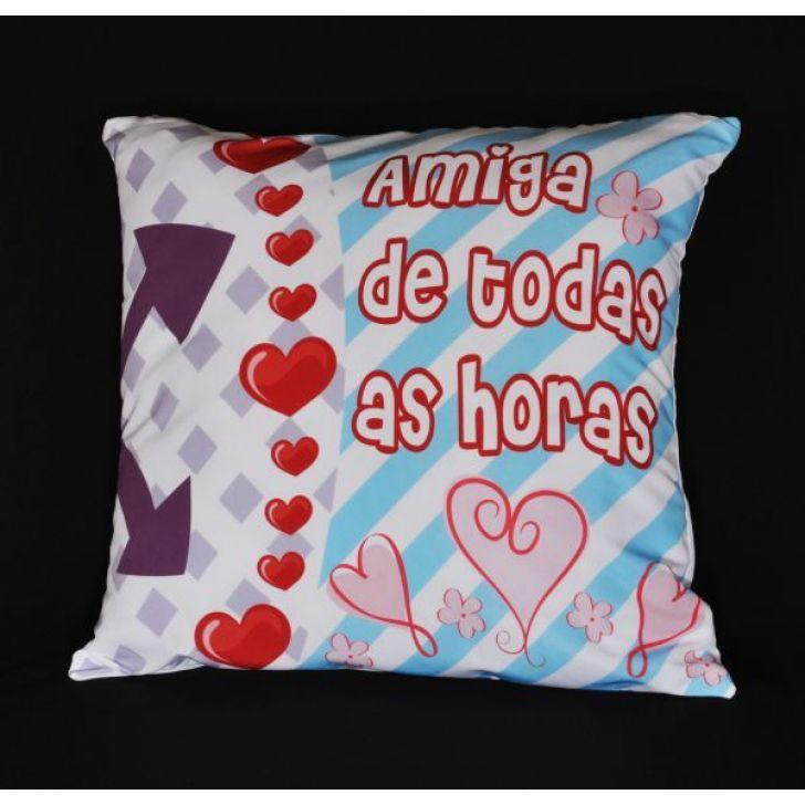 998bb248033215 Capa de Almofada Estampas Criativas Amiga