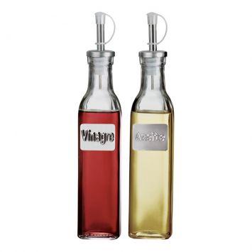 Conjunto Galheteiro Vinagre E Líquido 2 pçs Euro Vinagre e Liquido
