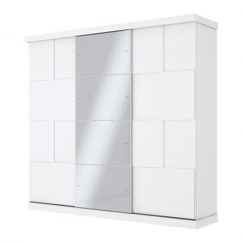 Guarda-Roupa Casal com Espelho Marsala 3PT 6GV Branco