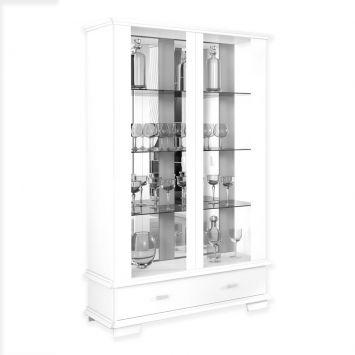 Cristaleira Ornare 2119 com Espelho Branco