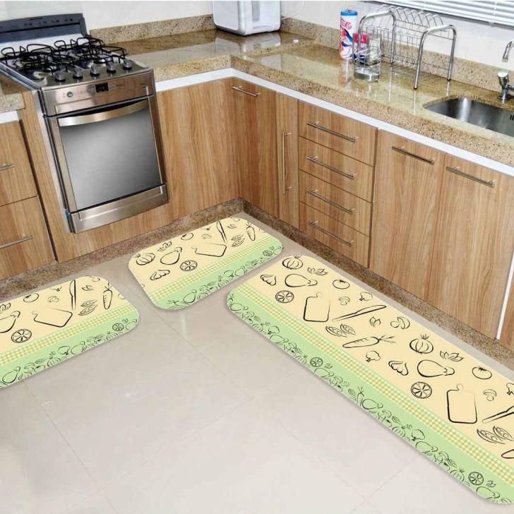 af5afdb54 Kit Tapete de Cozinha Legumes Único
