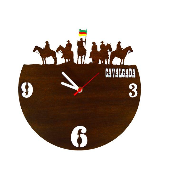 2b22ff43422 Relógio de Parede Decorativo - Modelo Cavalgada