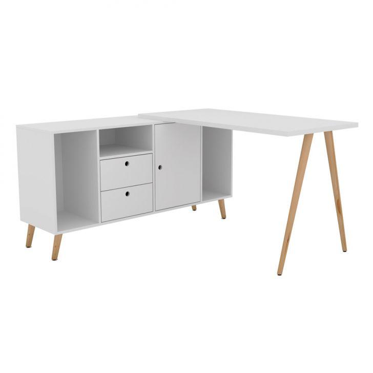 Mesa para Computador Olívia Retrô Branca