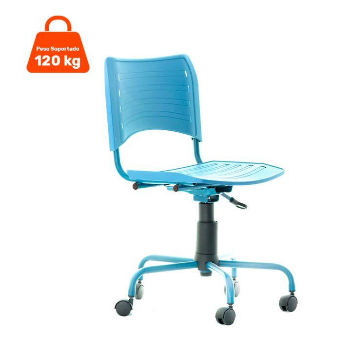 Cadeira Evidence Giratória sem Braço Color Azul