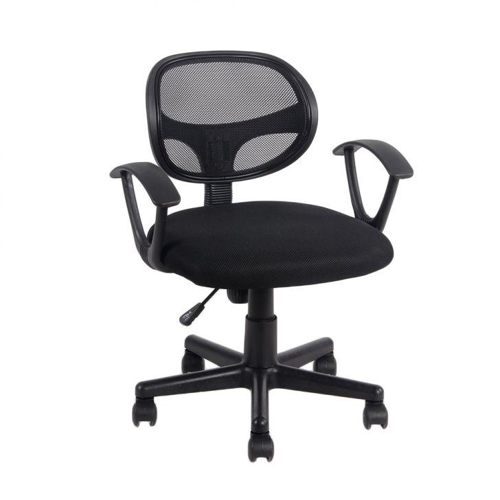 Cadeira de Escritório Secretária com Braços Canadá Preta