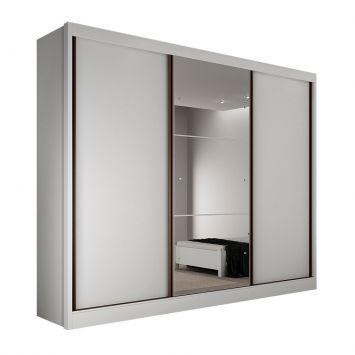 Guarda-Roupa Casal com Espelho Rennes 3PT 6GV Branco