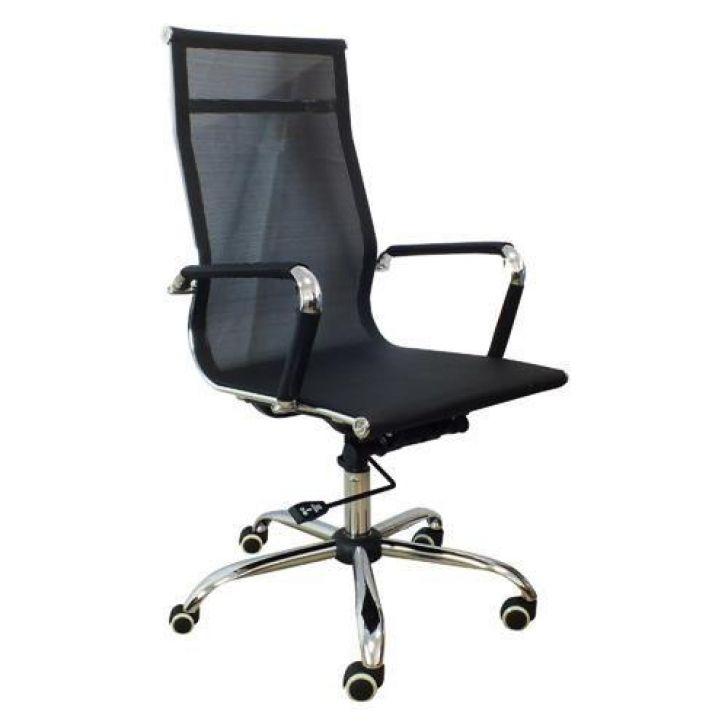 b1d7ce319 Cadeira Presidente Em Tela Mesh Pel-7010H Preta Design Charles Eames
