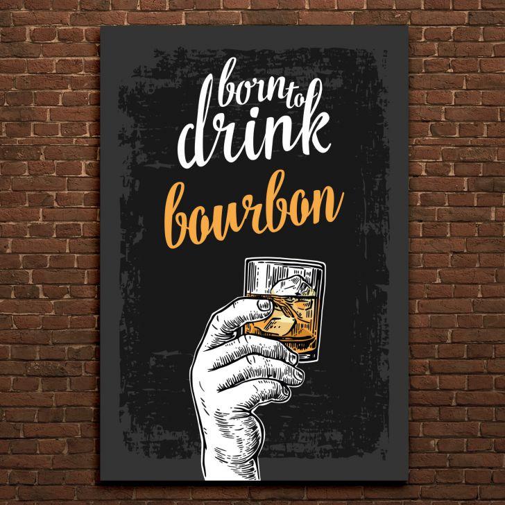 bd19a7f223 Placa Decorativa MDF Frase Bebida Bourbon
