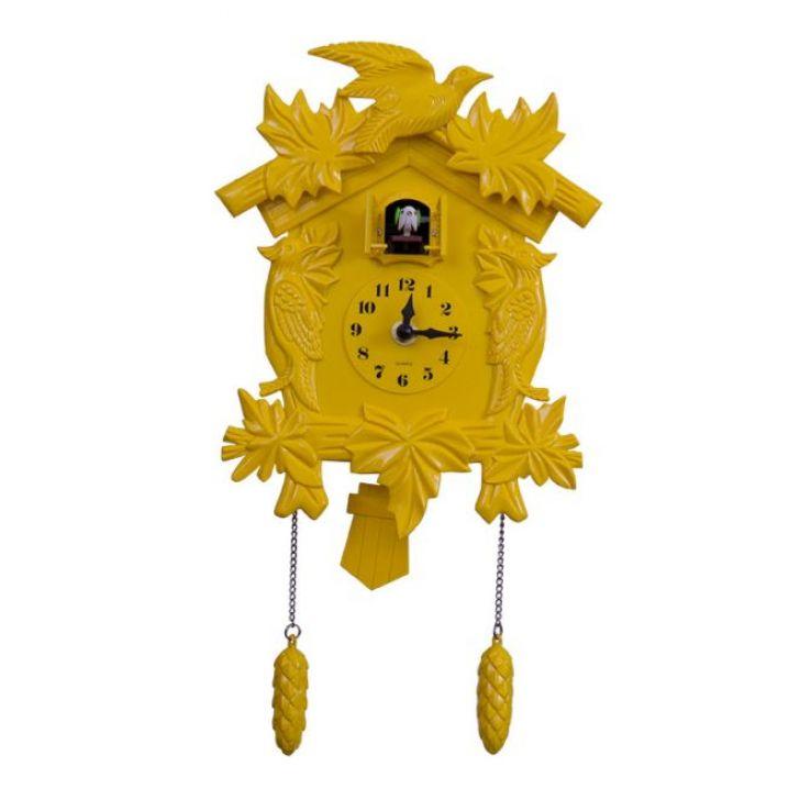 83fe377a989 Relógio Cuco Amarelo