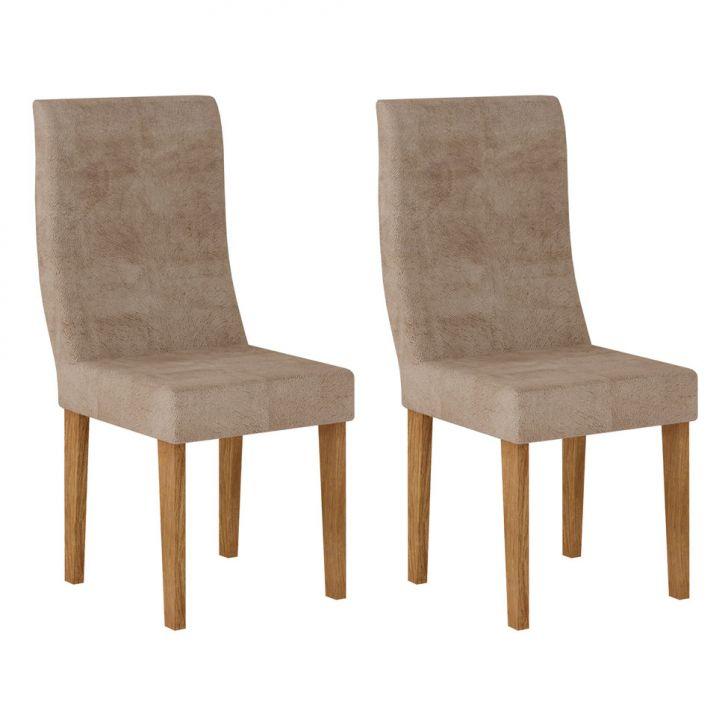 Conjunto 2 Cadeiras Verona Ypê E Animalle Chocolate