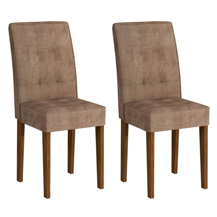 Conjunto 2 Cadeiras Viena Ypê E Animalle Chocolate