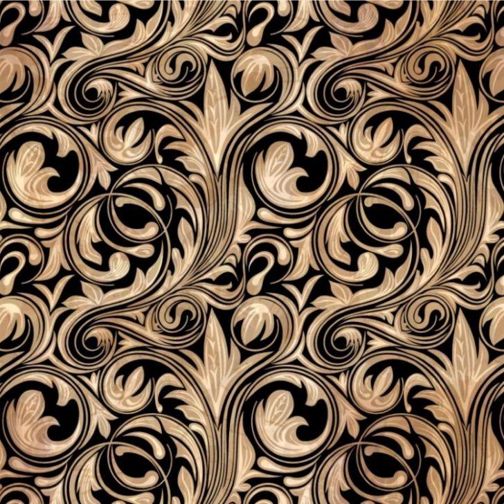 papel de parede adesivo arabesco dourado e preto