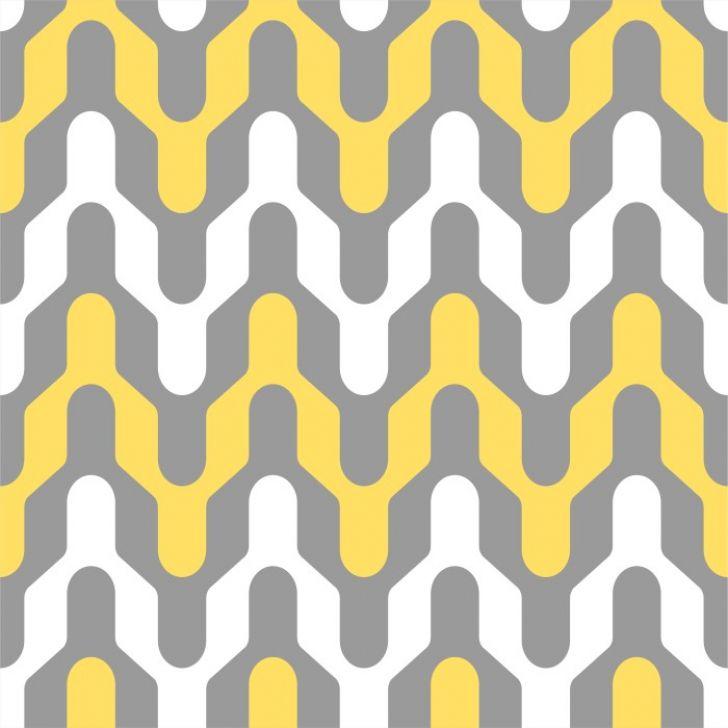 330b37469 Papel de Parede Adesivo Geométrico Cinza e Amarelo