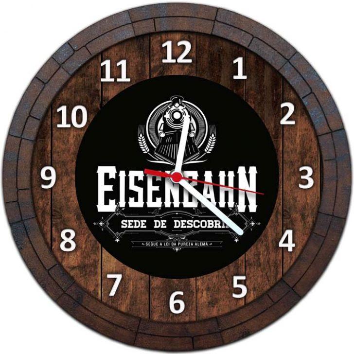 99e3d4e9a36 Relógio De Parede Quadro Tampa De Barril Tema Cervejas Vodka Bebidas W-021