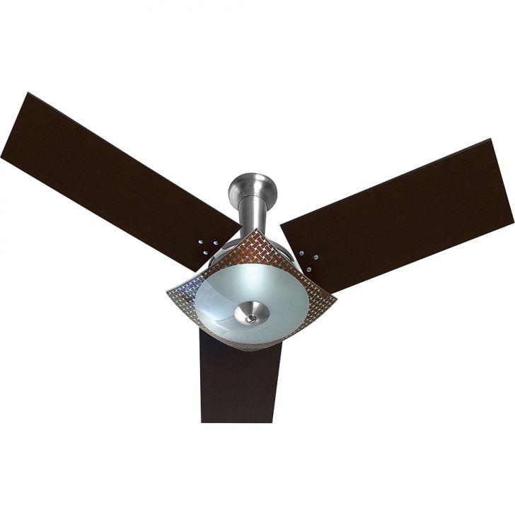Ventilador Naulu 110/127V 3P Ctm At Aluminio Escovado 138,7W Teto...
