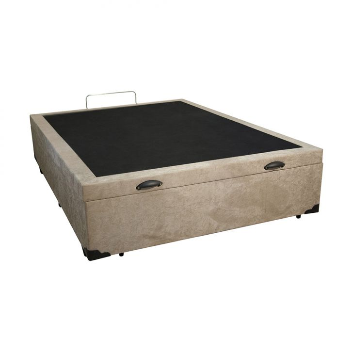 BASE BOX COM BAÚ CASAL TUTI (46X138X188) SUEDE BEGE