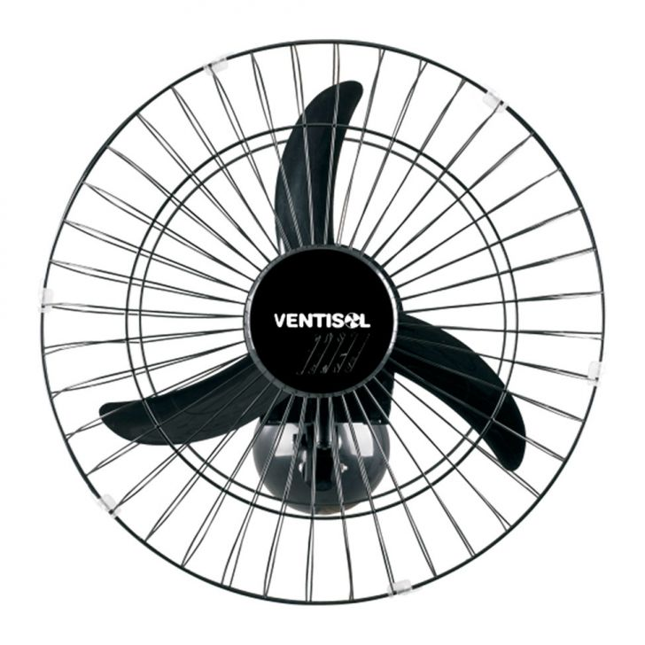 Ventilador de Parede 50 CM Preto Grade em Aço 127V