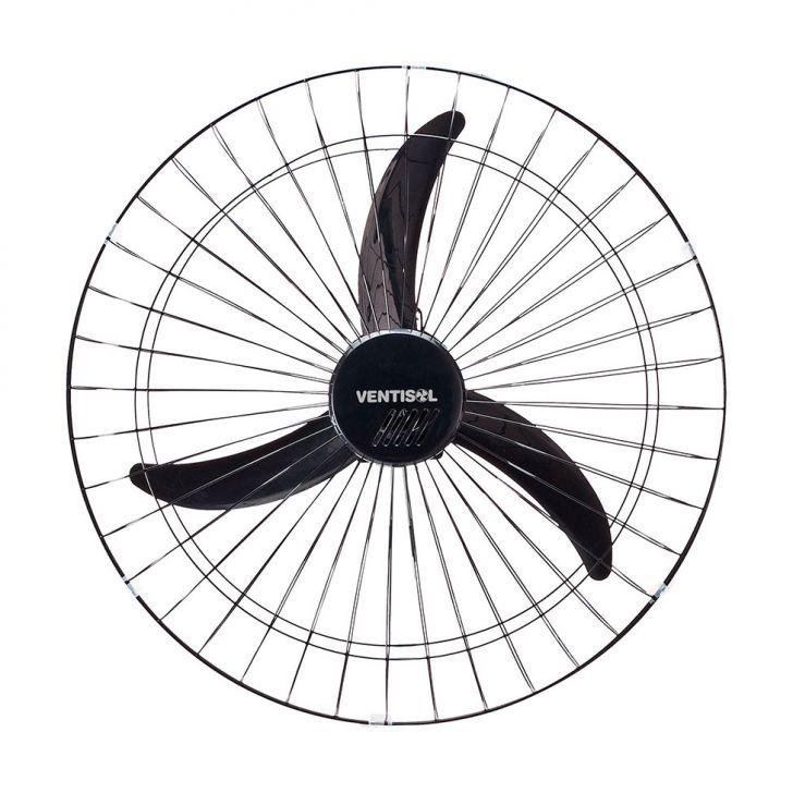 Ventilador de Parede 60 CM Preto Grade Aço 220V