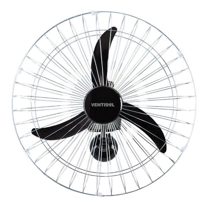 Ventilador de Parede de 60Cm Cromado Bivolt Prata Ventisol