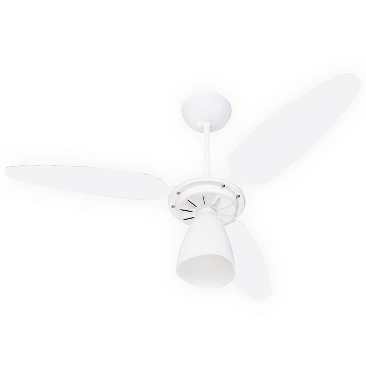 Ventilador de Teto Wind Light 3 Pás Branco & Acrílico 127V