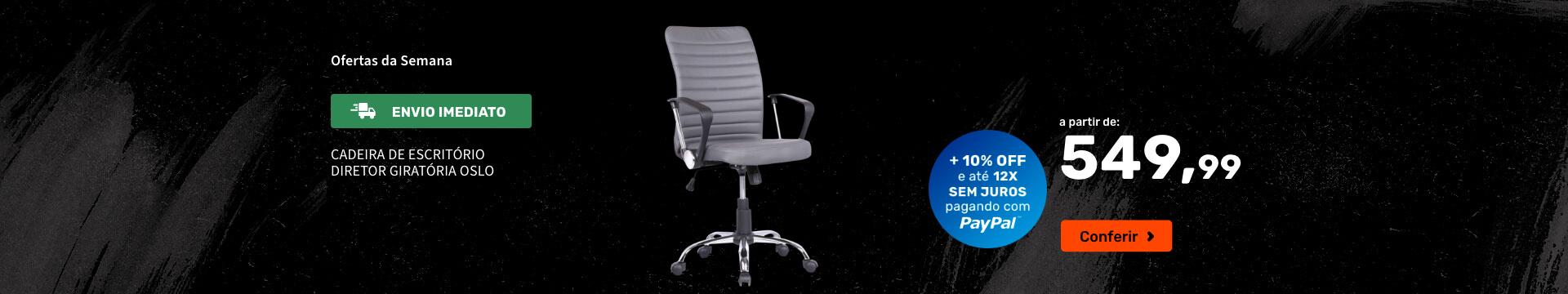 Cadeira de Escritório Diretor Giratória Oslo - Ofertas especiais