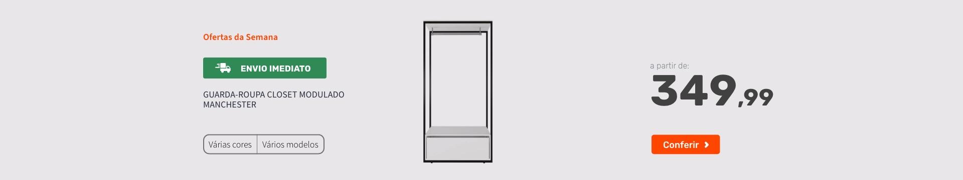 Guarda-Roupa Closet Modulado Manchester - Ofertas especiais