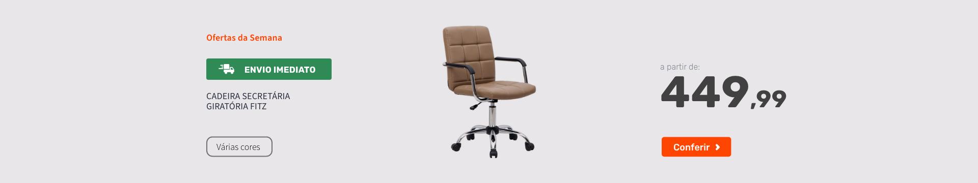 Cadeira Secretária Giratória Fitz - Ofertas especiais
