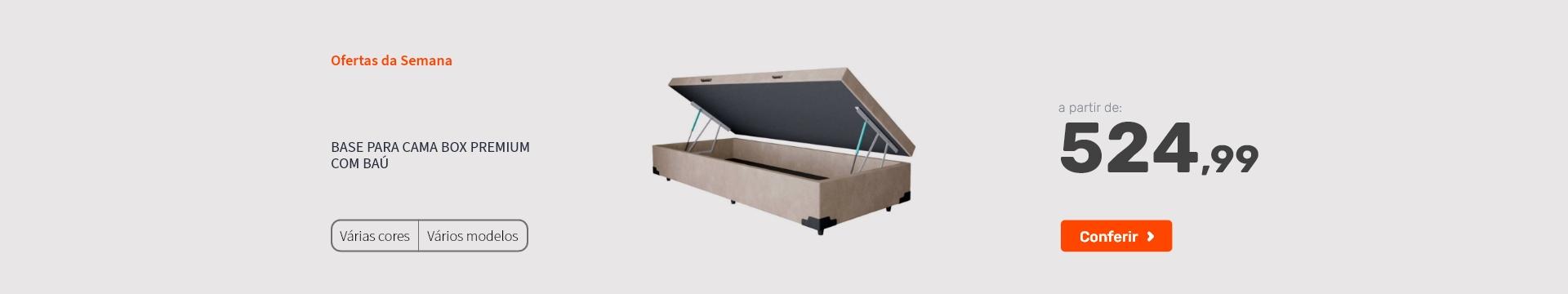 Base para Cama Box Premium com Baú - Ofertas especiais