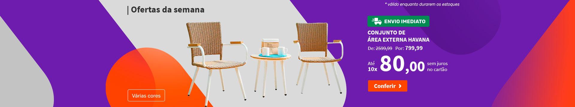 Conjunto de Mesa com 4 Cadeiras Monique - Ofertas da semana