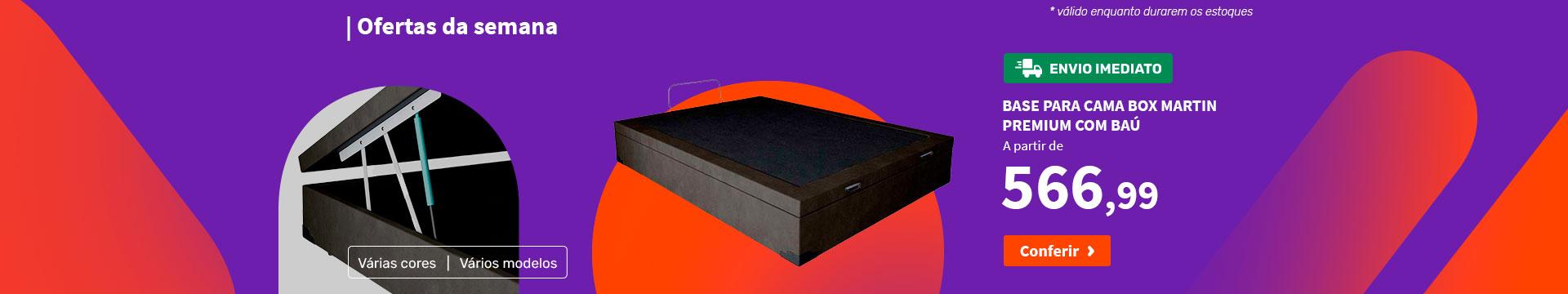 Base para Cama Box Martin Premium com Baú - Ofertas da semana