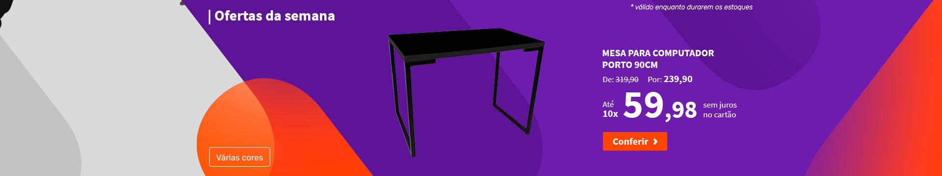 Mesa Para Computador  Porto 90cm - Ofertas da semana