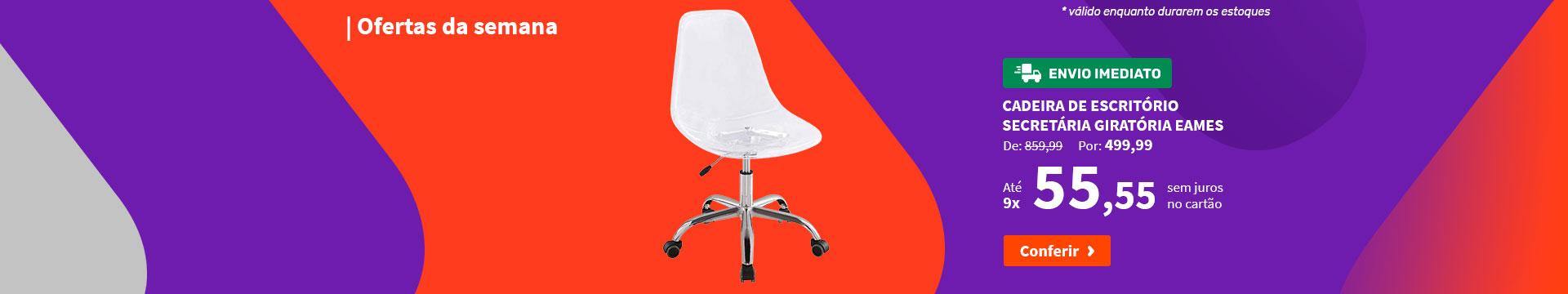 Cadeira de Escritório Secretária Giratória Eames - Ofertas da semana